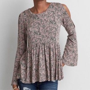 American Eagle Soft & Sexy Open Shoulder Blouse